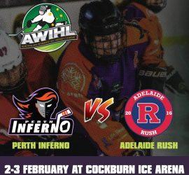 AWIHL: Perth Inferno vs Adelaide Rush