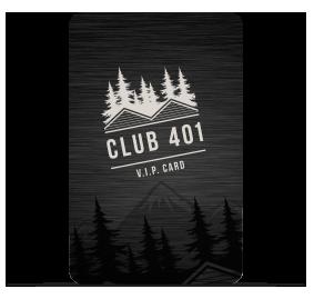 Club 401 member card