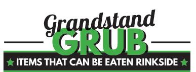 Grandstand Grub at Cabin 401 Bar & Grill, Bibra Lake. Items that can be eaten rinkside.