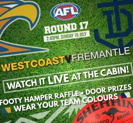 Round 17 Western Derby: Watch it live at the Cabin!